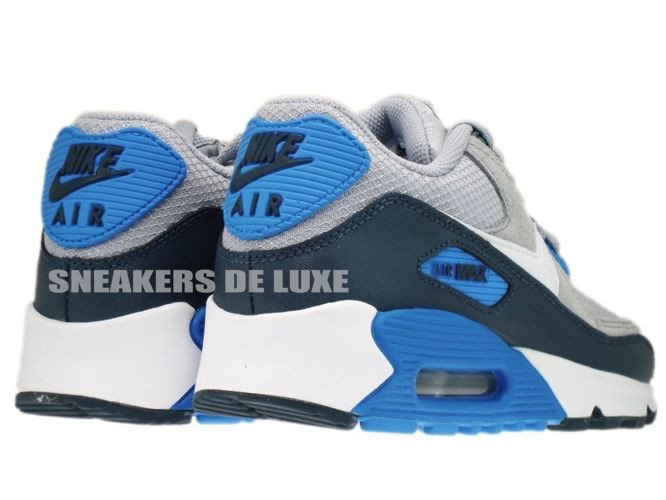 ... nike air max 90 wolf grey/white/dark royal blue ...