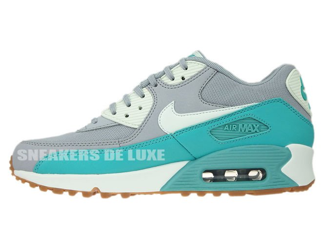 ... 616730-032 Nike Air Max 90 Wolf Grey / Barely Green - Washed Teal ...