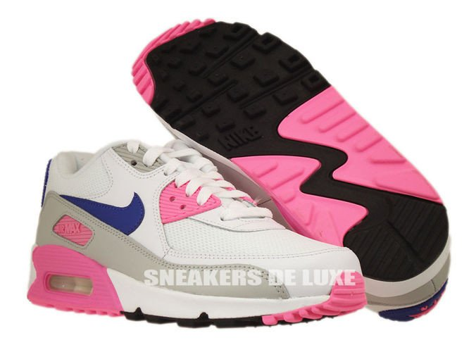 nike air max 90 white/zen grey/pink glow/concord