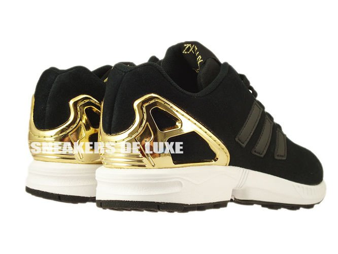 adidas original zx flux black and gold