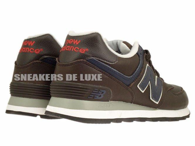 new balance 574 dark brown leather