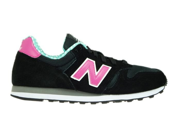 black and pink new balance 373