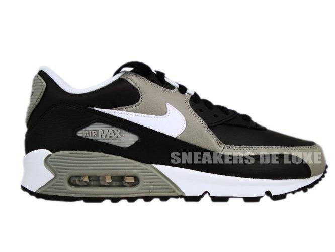 new styles af5dc ac4ec ... Nike Air Max 90 Premium Black/White-Medium Grey 333888-008 . ...