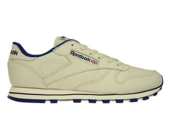 28413 Reebok Classic Leather Ecru/Navy