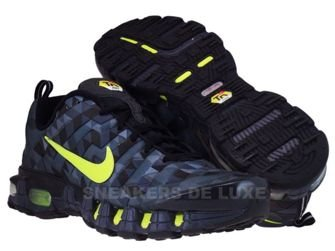 336155-071 Nike Tuned X 10 Black/Tarmac Neon Green