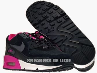 345017-017 Nike Air Max 90 Black/Dark Grey-Pink Foil-White 345017-017