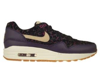 454746-500 Nike Air Max 1 Premium Purple Dynasty/Linen-Black-Raspberry Red