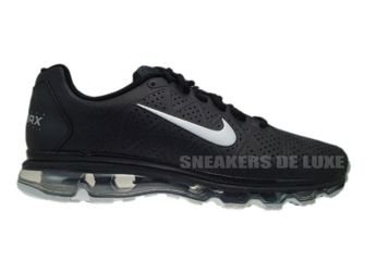 456325-090 Nike Air Max 2011+ LEA Black Metallic Silver
