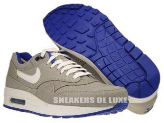 512033-040 Nike Air Max 1 Premium Classic Stone/Sail-Hyper Blue-Anthracite Team Orange 512033-040