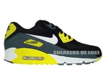 537384-017 Nike Air Max 90 Essential Black/White-Sonic Yellow-Armory Slate