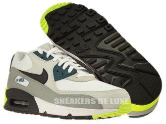 537384-105 Nike Air Max 90 Essential White/ Black Prune-Light Base Grey-Base Grey