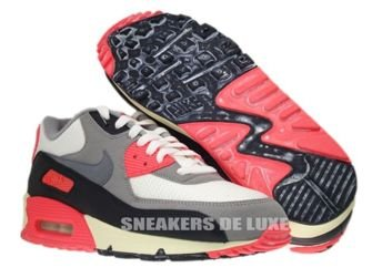 543361-161 Nike Air Max 90 OG Sail/Cool Grey-Medium Grey-Infrared