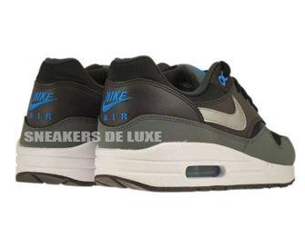 555766-002 Nike Air Max 1 Black/Metallic Silver-Photo Blue-Night Stadium