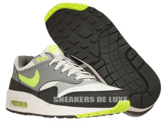 555766-006 Nike Air Max 1 Dusty Grey/Volt/Clear Grey/Metallic Silver