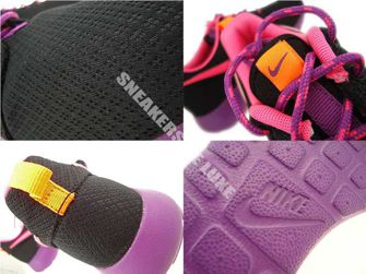 599729-007 Nike Rosherun Black/PInk Power-Bold Berry-Total Orange
