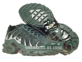 604133-303 Nike Air Max Plus TN 1 Black Bruse/Metallic Silver/Vintage Green