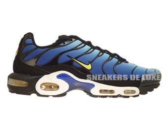 604133-475 Nike Air Max Plus TN 1 Hyper Blue/Chamois-Black-Sky Blue