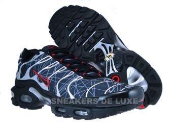 604133-903 Nike Air Max Plus TN 1 Black/Black-Comet Red