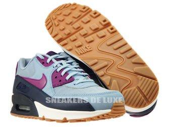 616730-403 Nike Air Max 90 Blue Grey/Bright Grape
