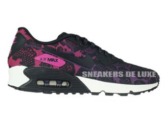 749326-500 Nike Air Max 90 Jacquard Mulberry/Black-Sport Fuchsia-Summit White