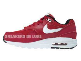 807602-601 Nike Air Max 1 Gym Red/White-Black