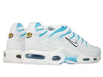 852630-105 Nike Air Max Plus TN 1 White/White-Lt Blue Fury