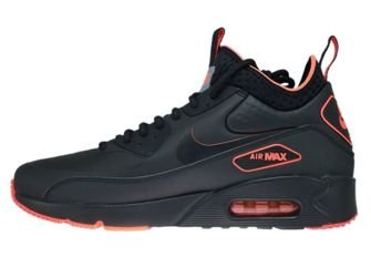 AA4423-001 Nike Air Max 90 Mid Winter Black/Black-Total Crimson