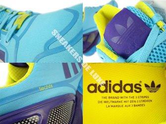 AF6303 adidas ZX Flux bright cyan / collegiate purple / bright yellow