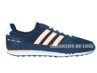 F99367 adidas NEO City Racer W collegiate navy / light flash orange s15 / ftwr white
