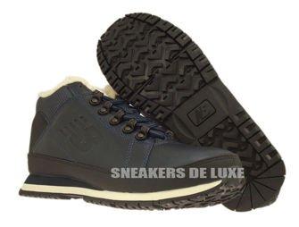 H754LFN New Balance Navy Leather Fur