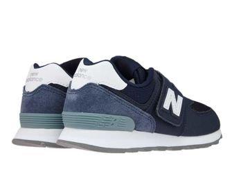 New Balance YV574D4 Navy/White
