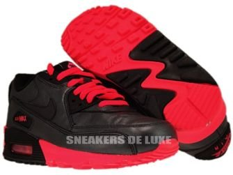 Nike Air Max 90 Leather Black/Black-Pink 325213-019