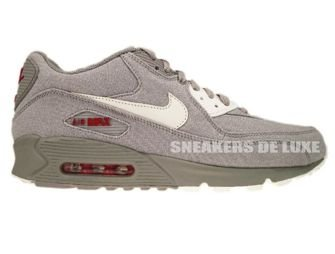Nike Air Max 90 Medium Grey/Sail-Varsity Red 345188-003