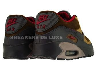 Nike Air Max 90 Mid Fog/Deep Red-Metallic Gold
