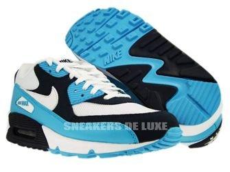 Nike Air Max 90 White/White-Chlorine Blue-Obsidian 309299-129
