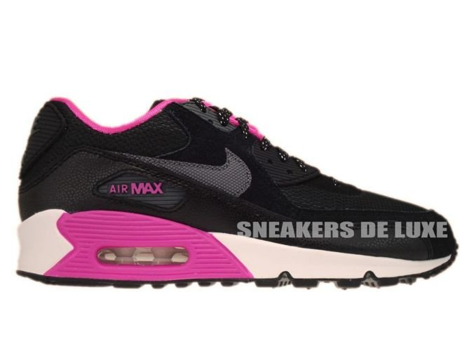 dfdfa6fc9b71 ... 345017-017 Nike Air Max 90 Black Dark Grey-Pink Foil-White .