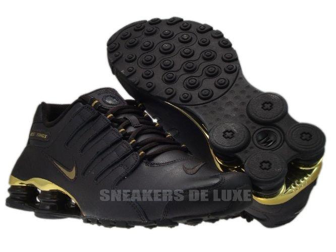 378341 200 Nike Shox NZ EU Velvet Brown Metallic Gold