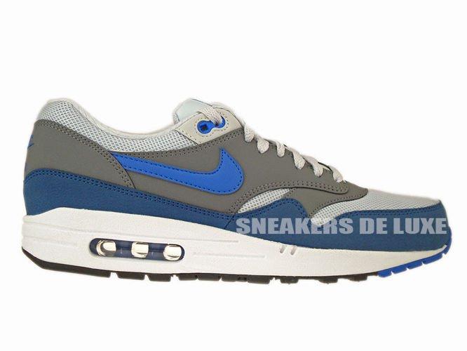 on sale e25f6 10704 537383-040 Nike Air Max 1 Essential Geyser Grey Prize Blue-Cool Grey ...