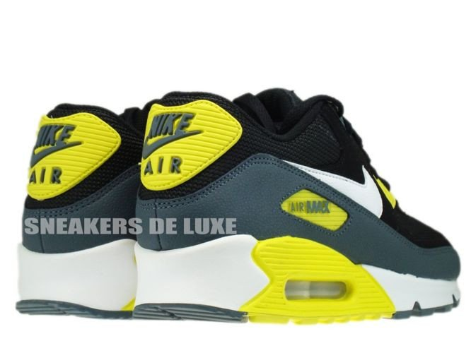 37cc53dfda9c ... 537384-017 Nike Air Max 90 Essential Black White-Sonic Yellow-Armory ...