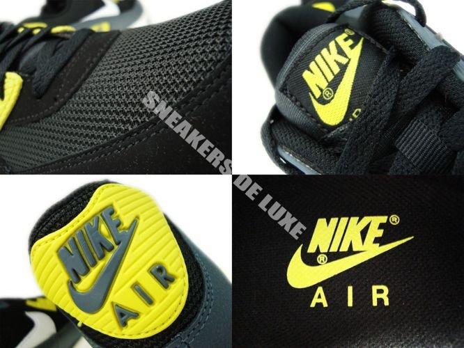 Nike Air Max 90 Essential Black White Yellow Armory Slate