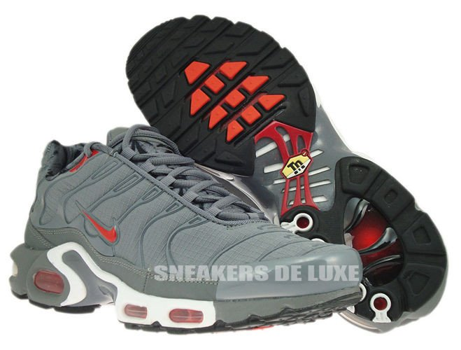 4ed588723e90 ... italy 604133 080 nike air max plus tn 1 cool grey challenge red black  36696 99f45