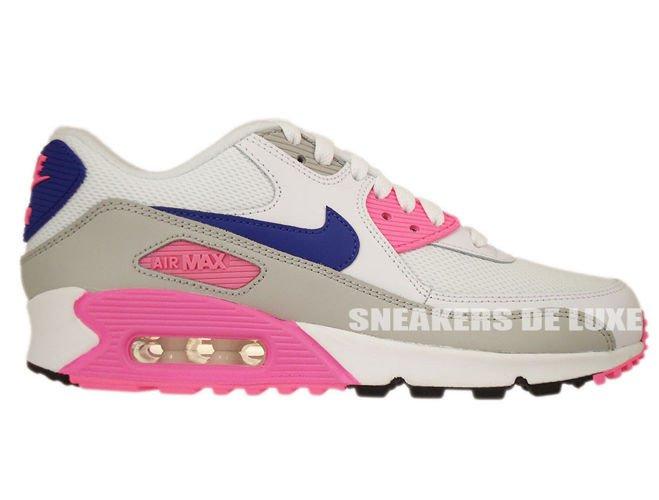 f3b94f7dea3a 616730-104 Nike Air Max 90 Essential White Concord-Zen Grey-Pink ...