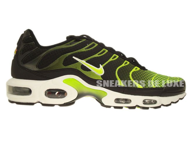 647315 071 Nike Air Max Plus TN 1 Black WhiteVolt Green