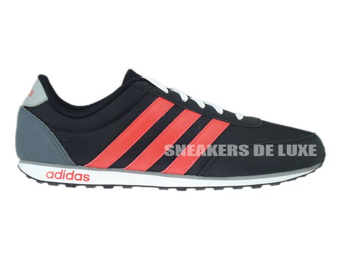 the latest 640d6 23cb1 F99392 adidas neo V Racer core black  bright red  clear onix