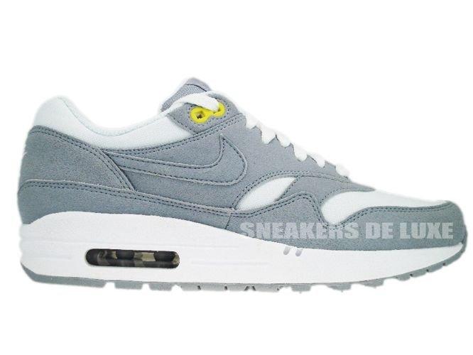 san francisco ee1c7 a82ba Nike Air Max 1 Wolf Grey Wolf Grey White High Voltage 319986- ...