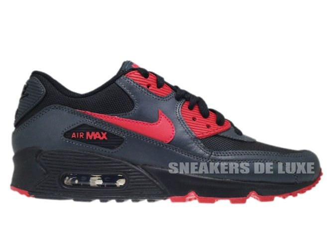 sports shoes be721 b7bd3 Nike Air Max 90 Black/Siren Red-Anthracite 325213-020 325213-020 ...