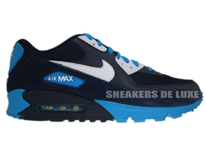 Nike Air Max 90 Midnight BlueBlack White Blue Glow 325018