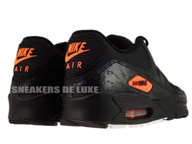 Nike Air Max 90 Premium Black Total Orange 333888-004 333888-004 ... 8ecf4d348c