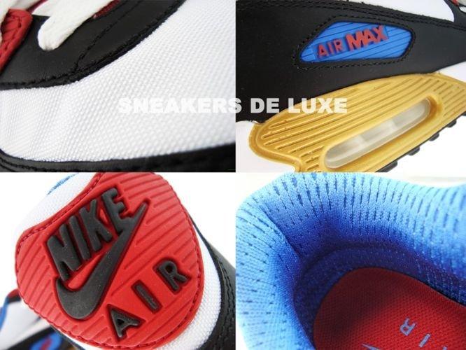 d57d6e24aa ... Nike Air Max 90 Premium LE Black/White/Varsity Red/Varsity Blue 333888