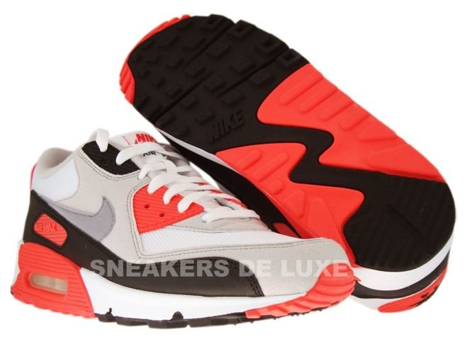 Nike Air Max 90 WhiteCement Grey Infrared Black 325018 107